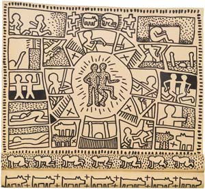 Haring K Untitled 1981 scroll 300