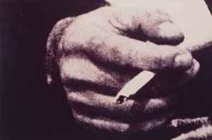 Prince R Untitled mans hand with cigarette 300